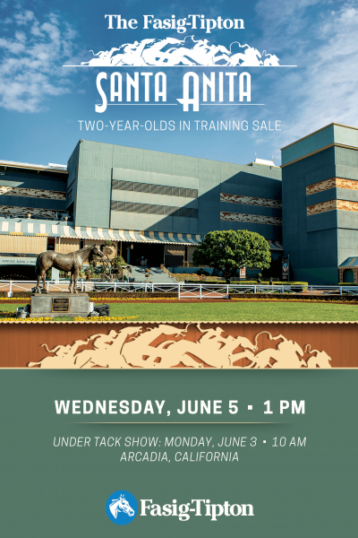 fasig-tipton santa anita 2yo in training catalogue